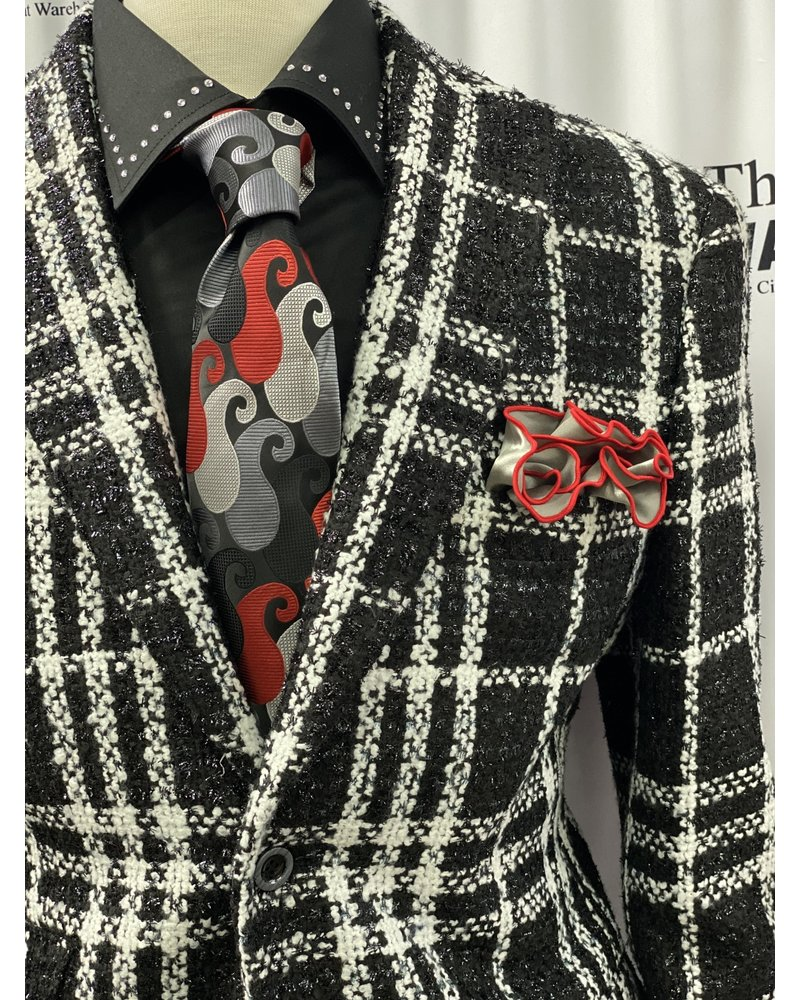 Window Pane Channel Blazer