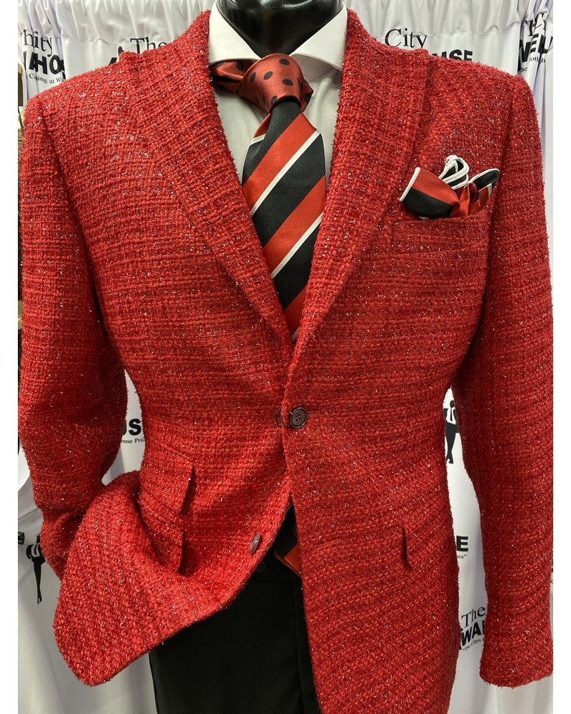 Lanzinno Tweed Channel Blazer