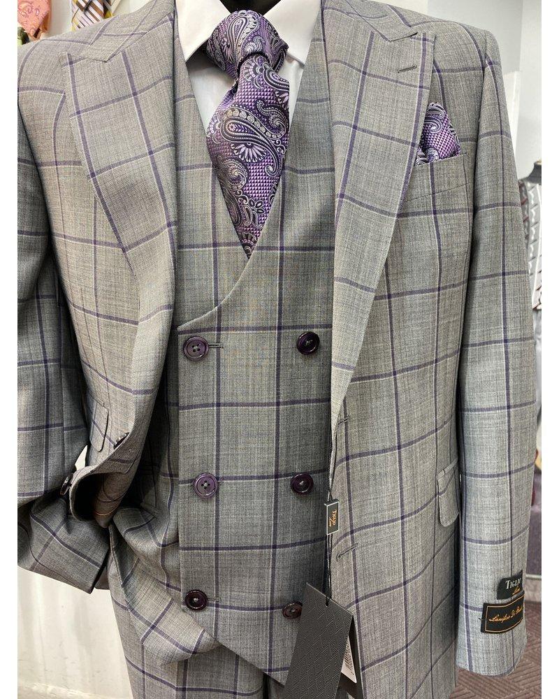 Tiglio Two Button Vested Plaid Suit