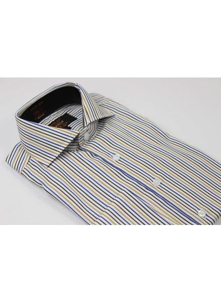 Verse 9 Pinstripe Cotton French Cuff Shirt