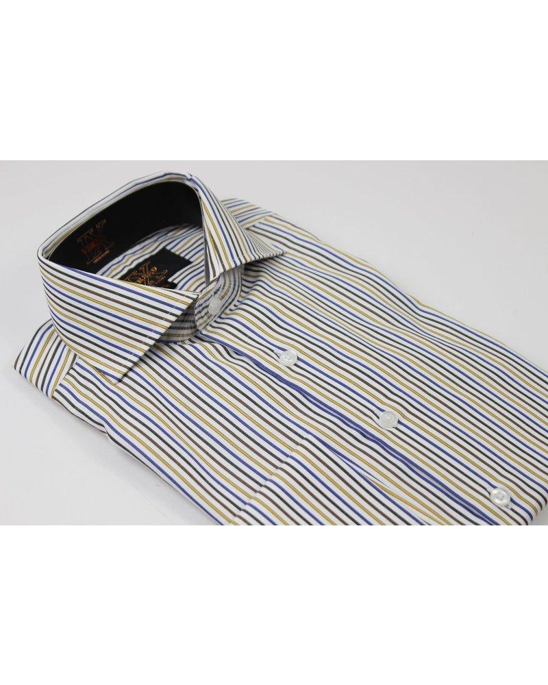 Verse 9 Pinstripe Cotton French Cuff Shirt