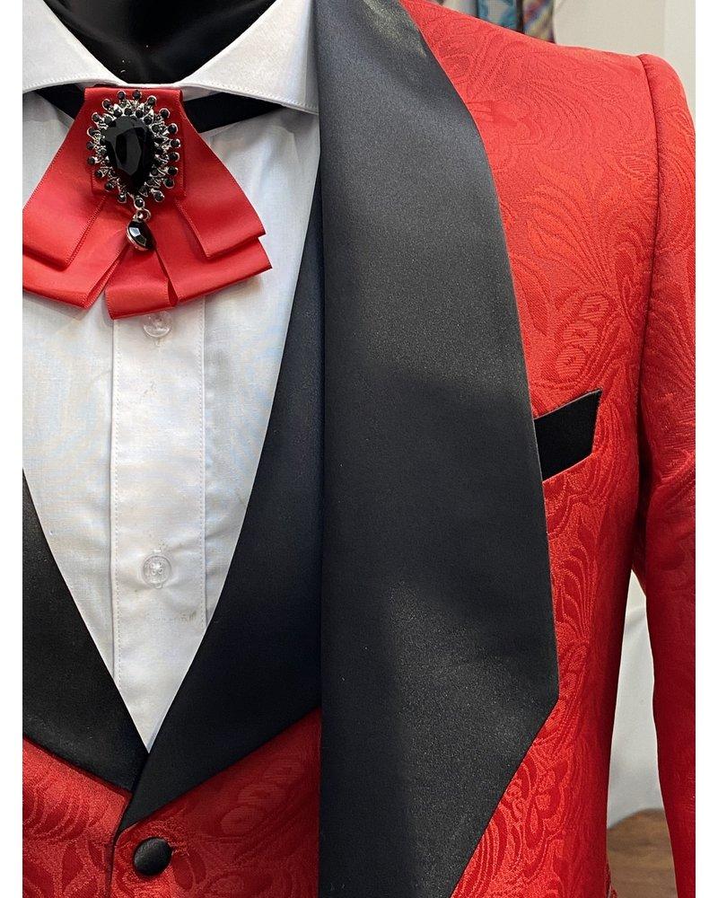 Paisley Blazer & Vest W/Cutaway Lapel