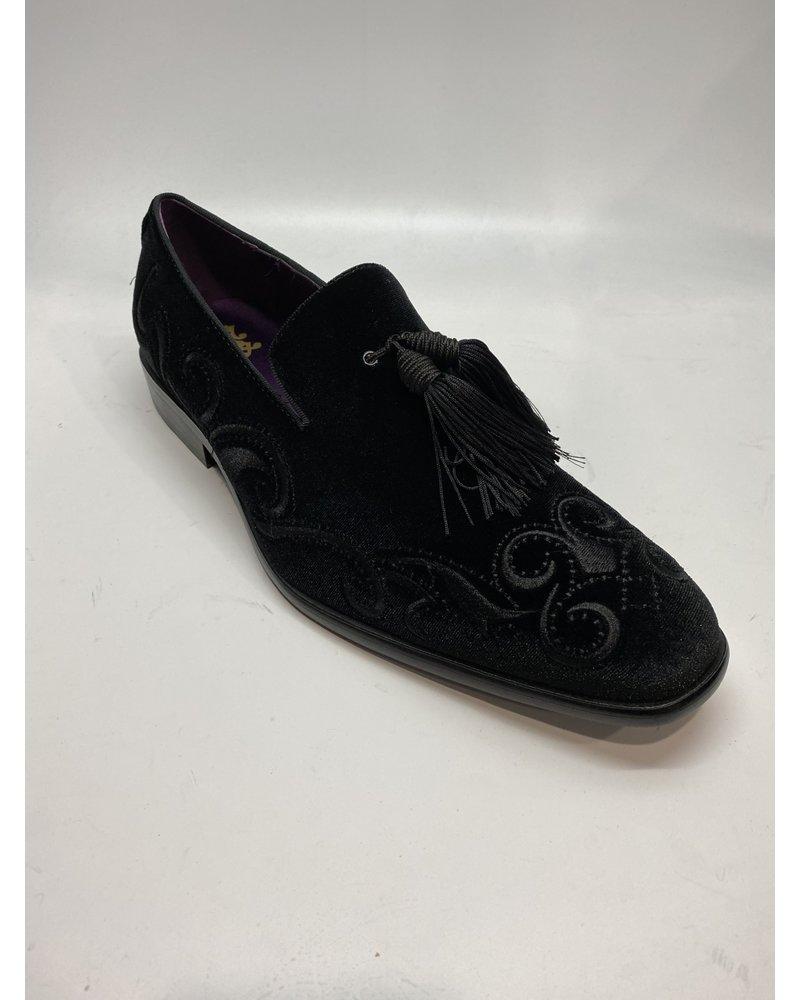 Velvet Embrodury Loafer W/Tassle