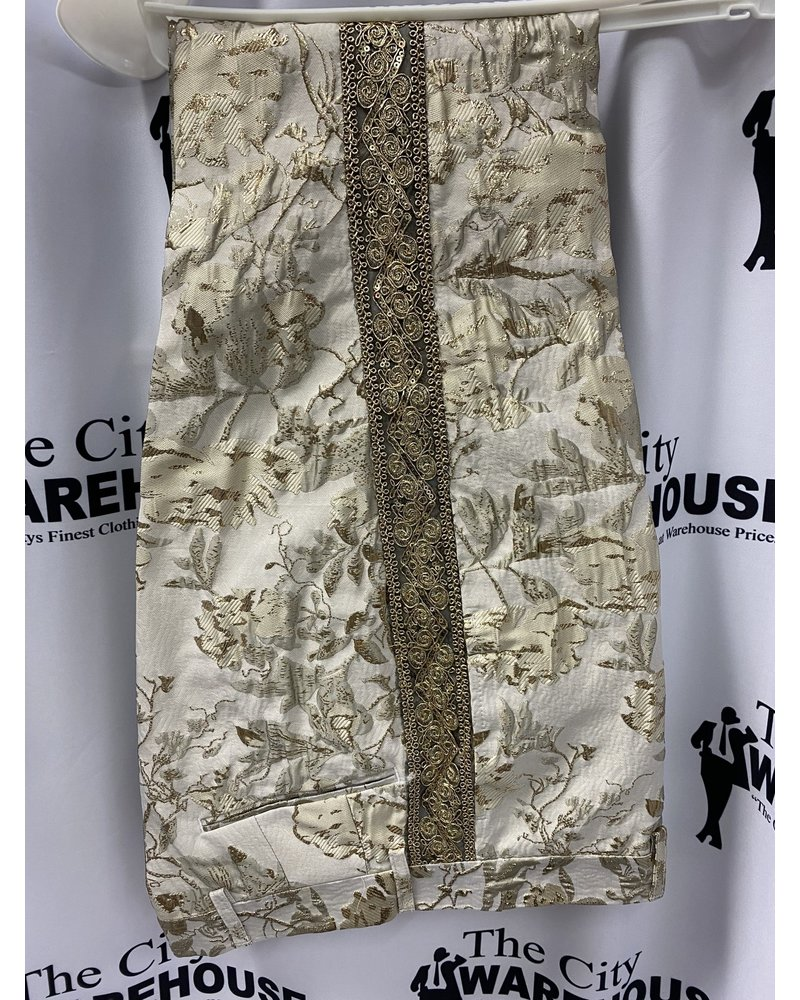 Biarelli Banded Floral Suit
