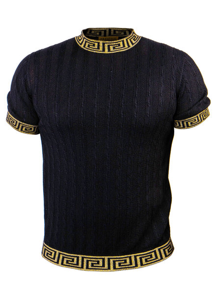 Prestige Crewneck Metallic Greek Key