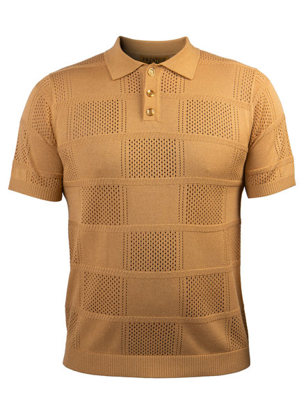 Prestige Geometric Polo Knit