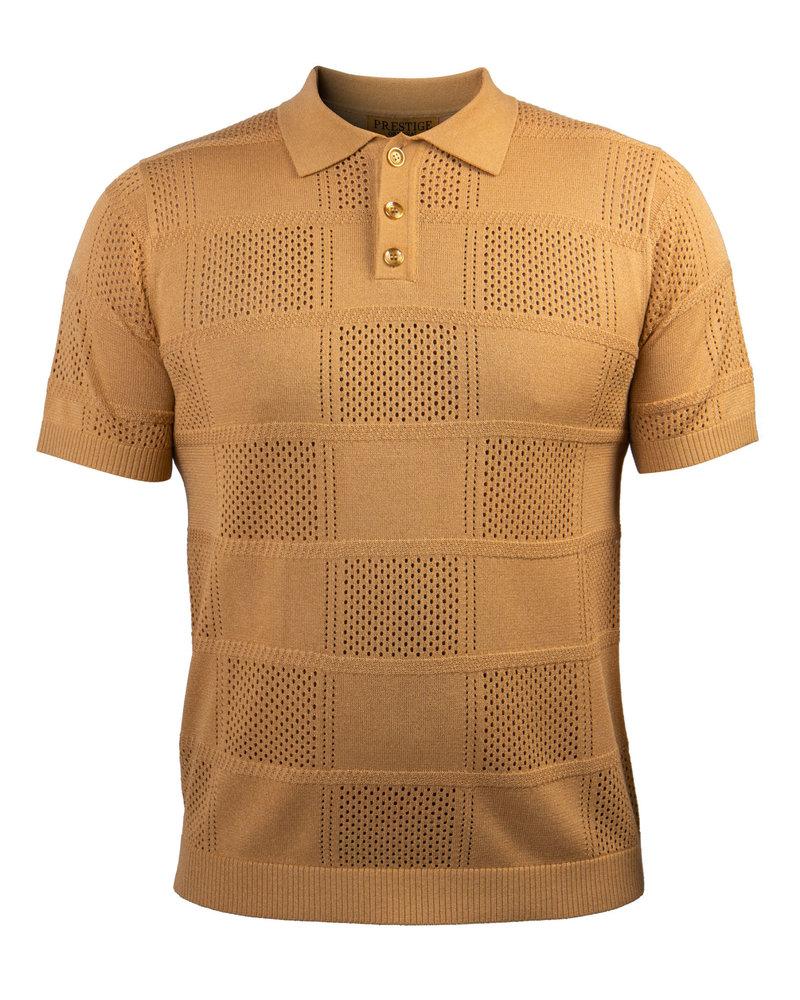 Prestige Geometric Polo Knit