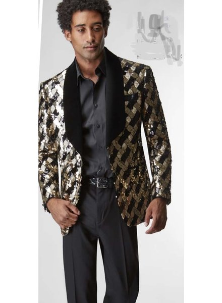 Sequence Blazer W/Velvet Lapel