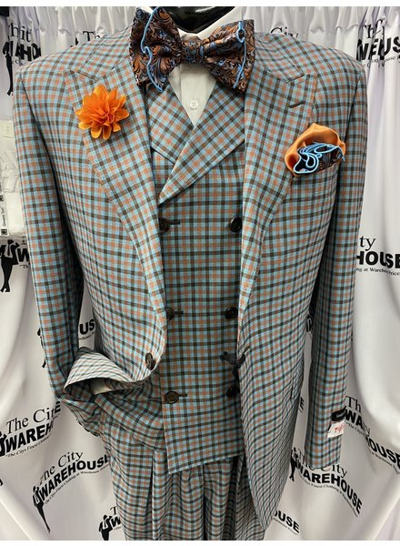 Tiglio San Giovesse Vested Plaid Suit