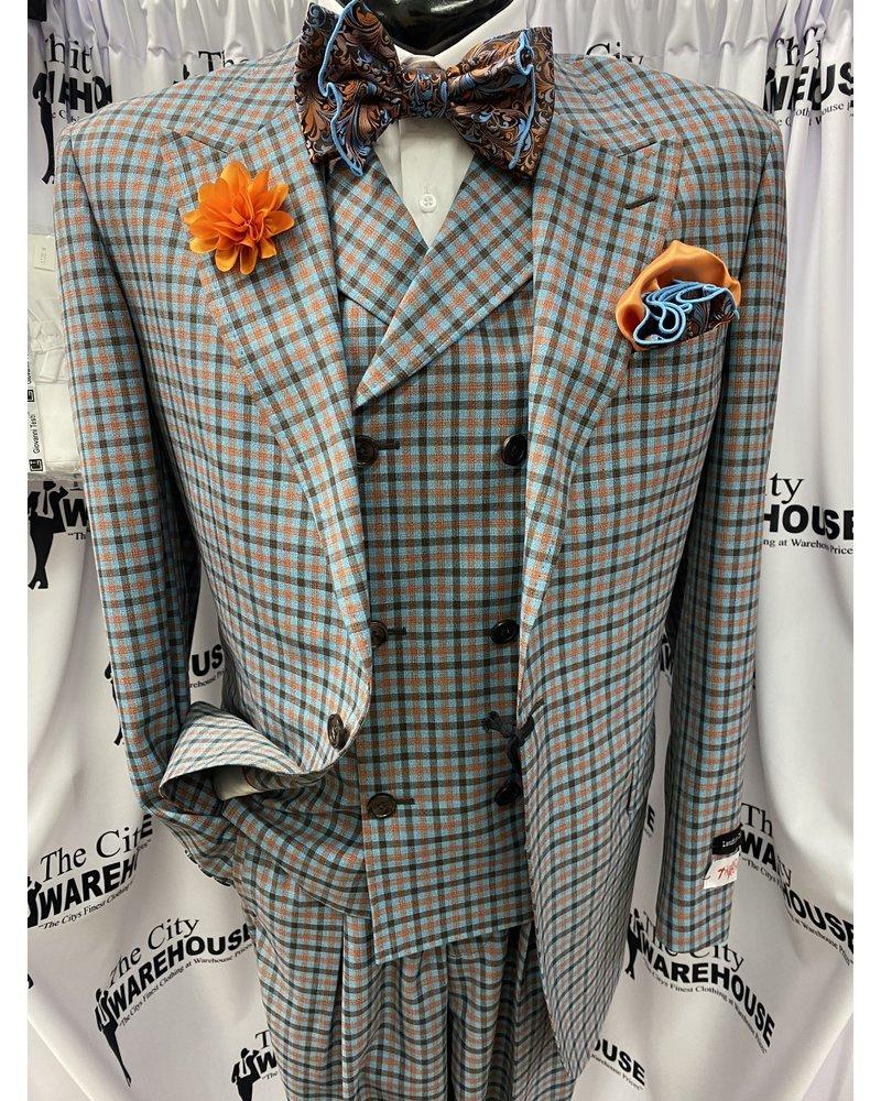 Tiglio San Giovesse Vested Plaid Suit