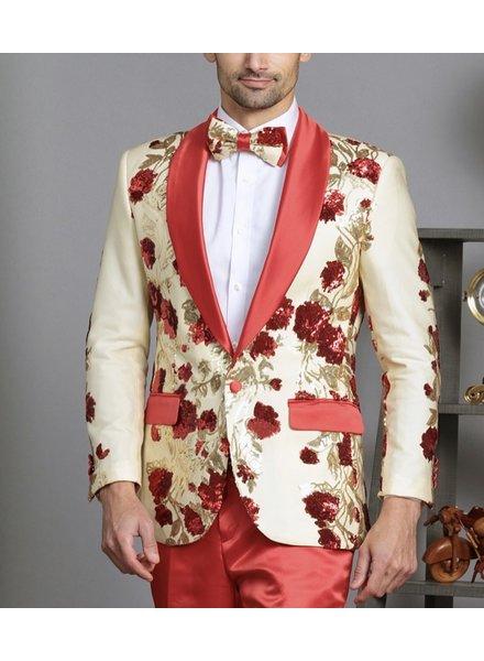 Manzini 3D Floral Sequins Blazer