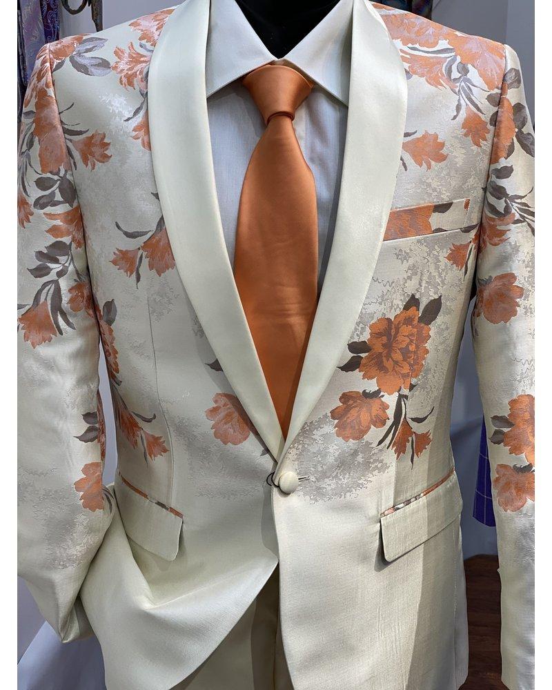 Floral Blazer Suit W/Solid Pant