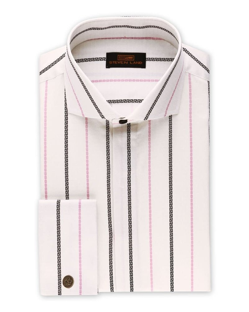 Steven Land Greek Key Stripe Shirt