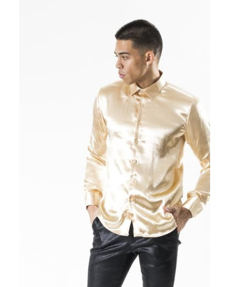 Crinkle Satin Slim Fit Shirt
