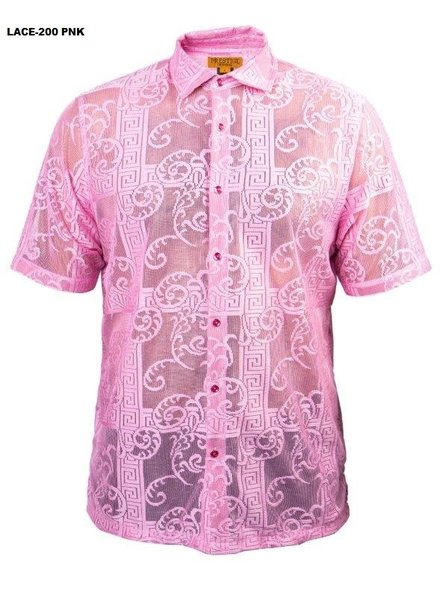 Prestige S/S Greek Key Lace Shirt