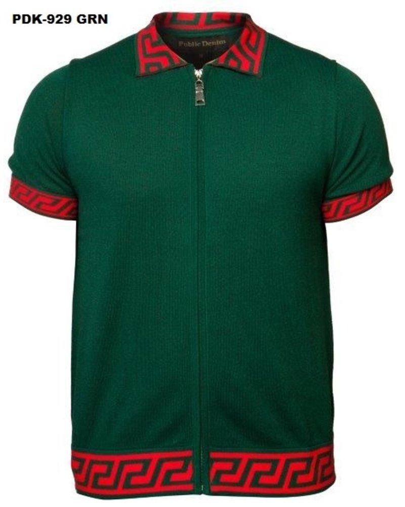 Prestige S/S Zip up Knit Shirt