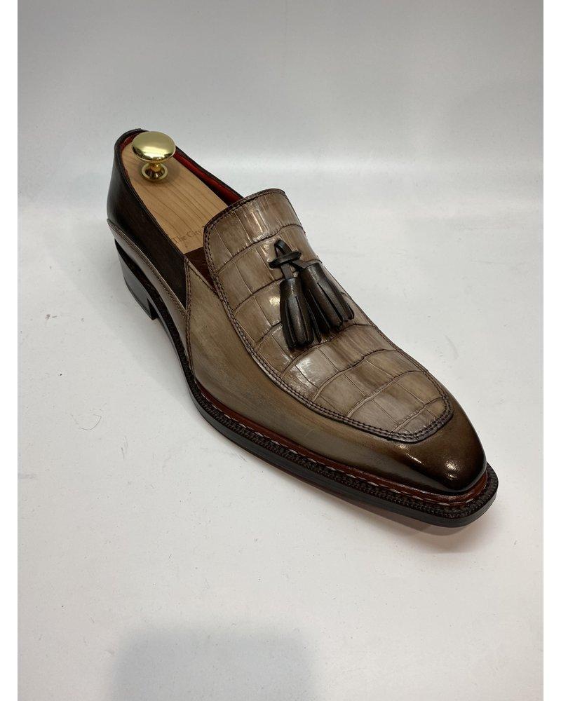 Fennix Trevor Leather & Alligator Loafer