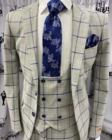 Steven Land Vincenzo Vested Window Paine Suit