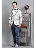 Manzini 3D Woven Blazer W/Trim