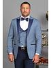 Peak Lapel Slim Fit Vested Tuxedo W/Bow Tie