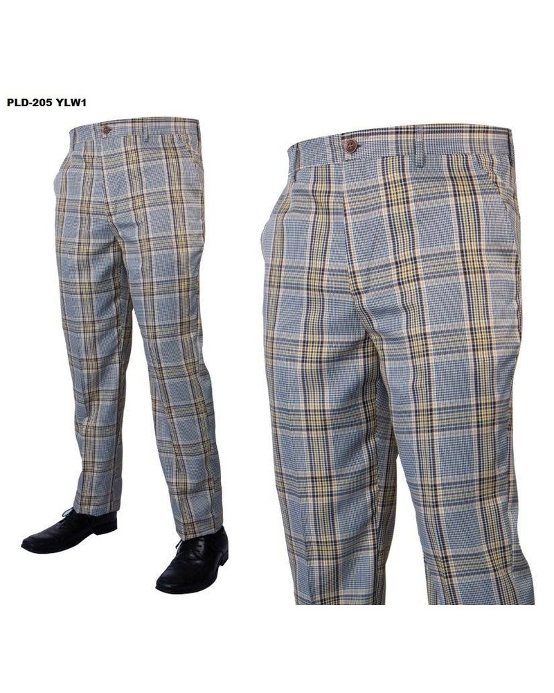 Prestige Plaid Flat Front Pant