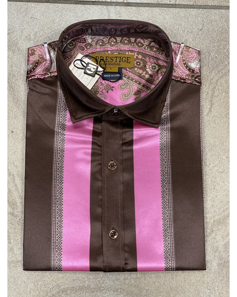 Prestige S/S Paint Print Satin Shirt
