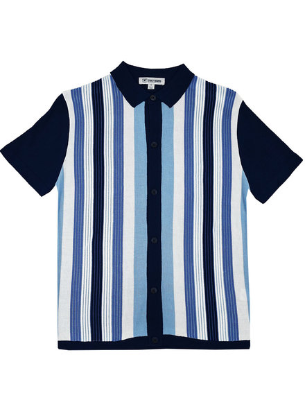Stacy Adams Stripe Knit Shit