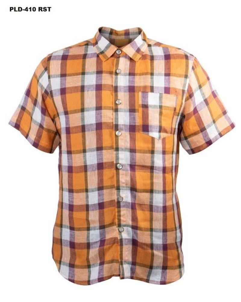 Prestige Linen Plaid Shirt