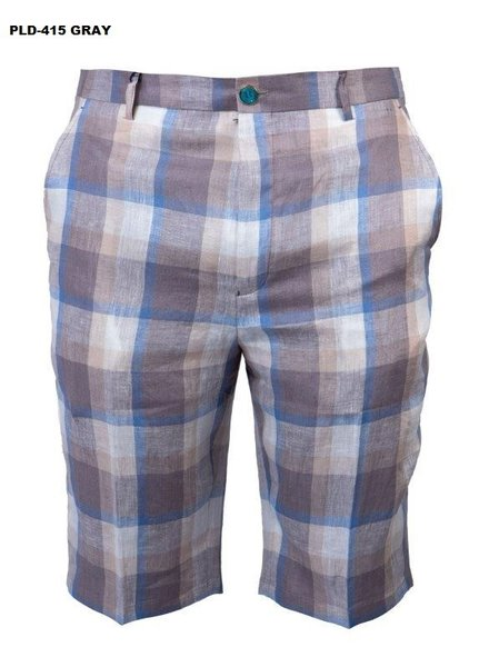 Prestige Linen Plaid Short