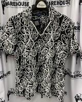 Lanzino V-Neck Lace Shirt