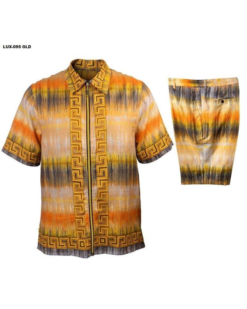Prestige Full Zip Tie Dye Short Set
