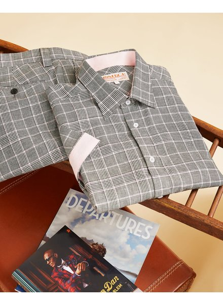 Inserch Plaid Check Linen Set