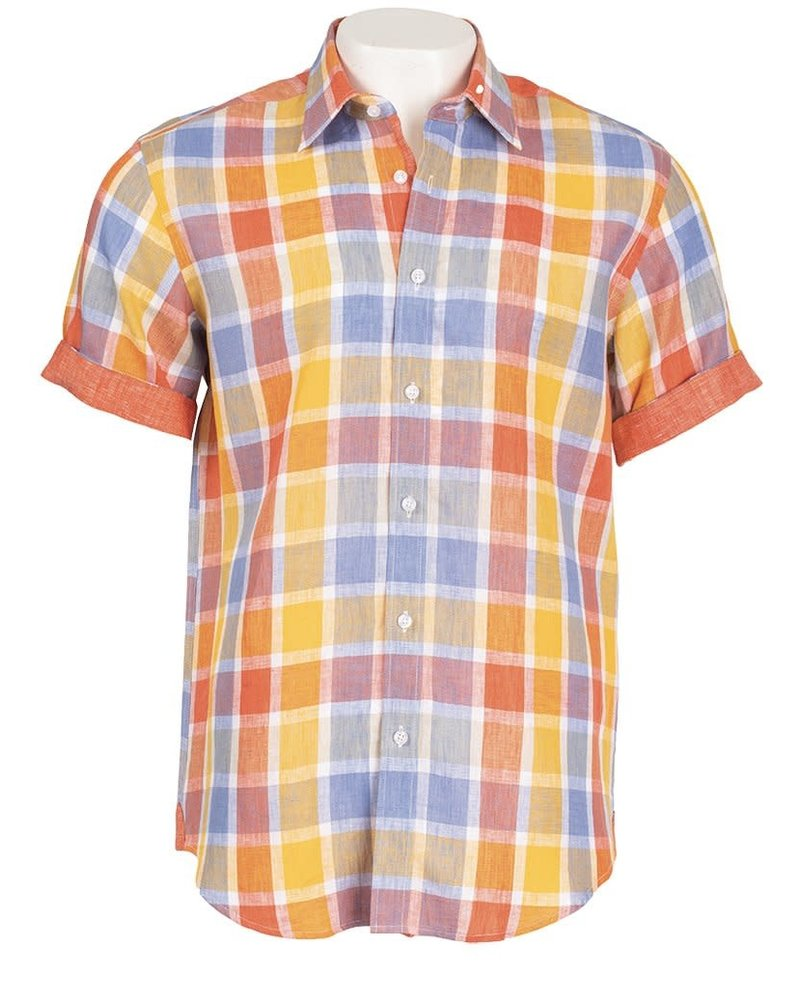 Inserch S/S Check Linen Shirt