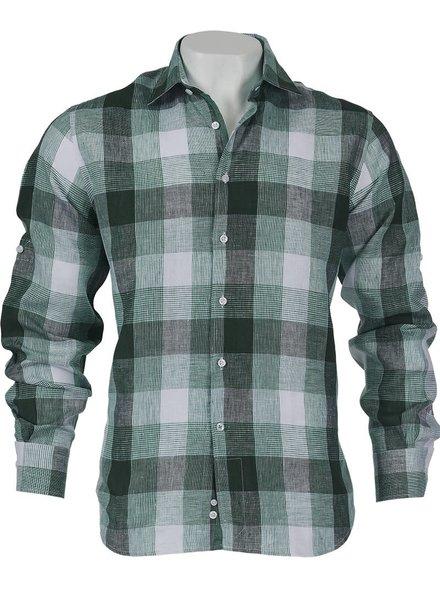 Inserch S/S Plaid Linen Shirt