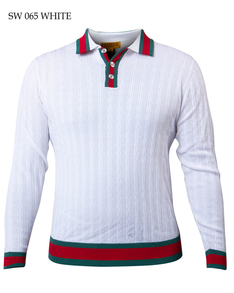 Prestige L/S Polo Web Design Sweater