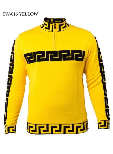 Prestige HalfZip Twill Mock Sweater