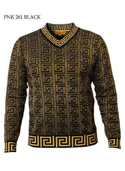 Prestige V-Neck Metallic Sweater