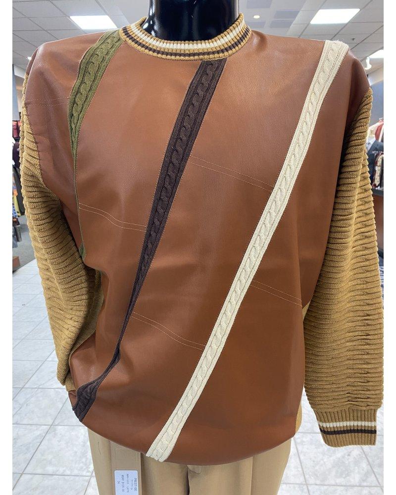 Intarsia Crew Neck Sweater