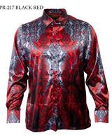 Prestige L/S Satin Digital Print Shirt (217)