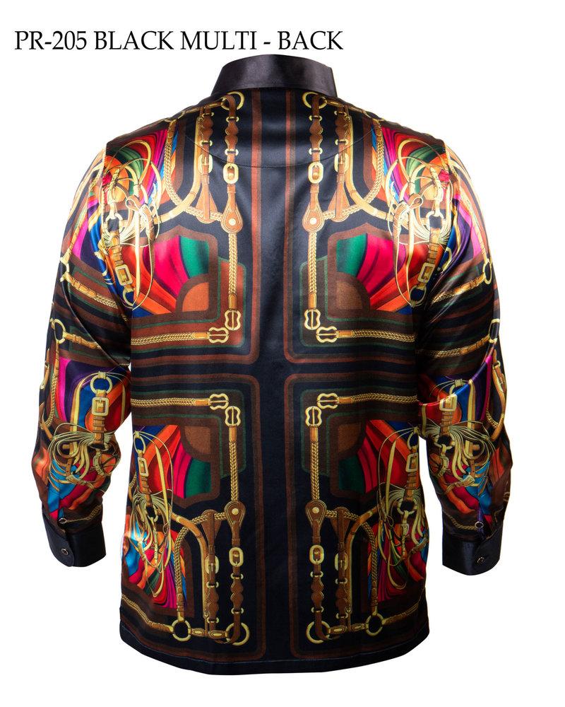 Prestige L/S Satin Digital Print Shirt(205)