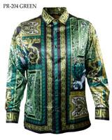 Prestige L/S Satin Digital Print Shirt (204)