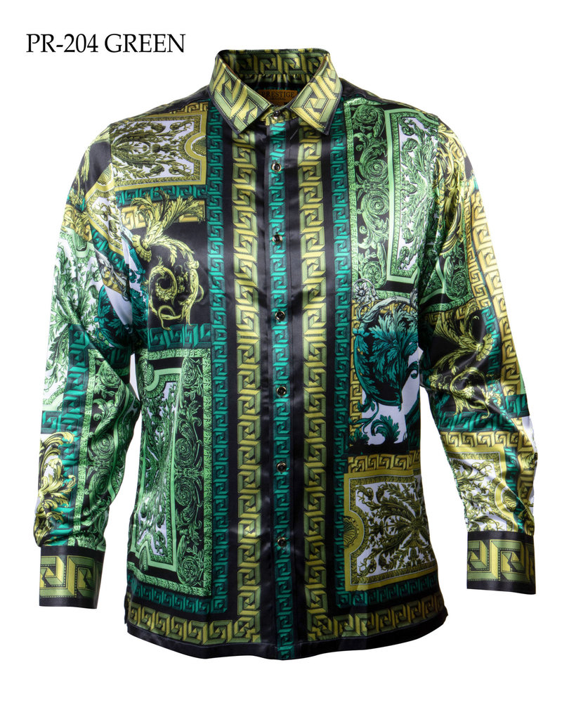 Prestige L/S Satin Digital Print Shirt (204)
