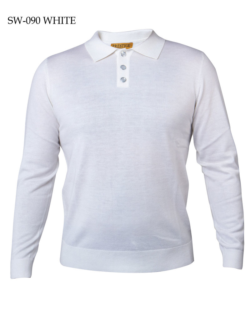 Prestige L/S Solid Polo Sweater