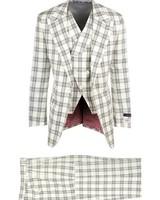 Tiglio Luca Plaid Vested Suit