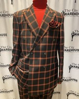 Luciano Window Pane Double Breasted Suit