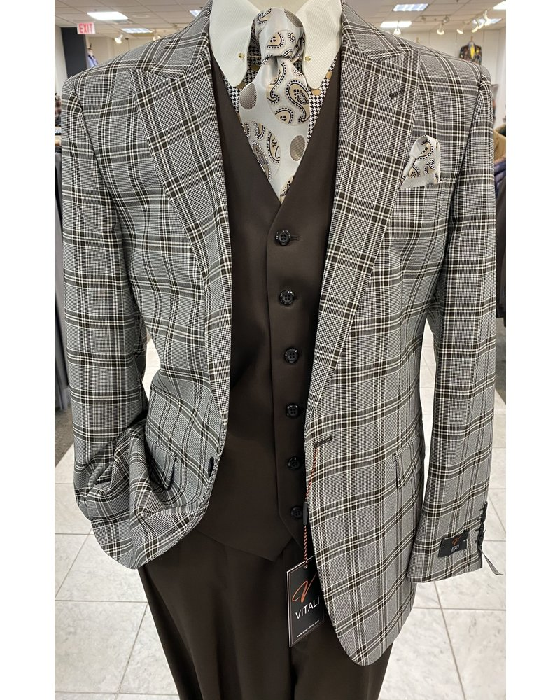 Vitali Plaid Compose Suit