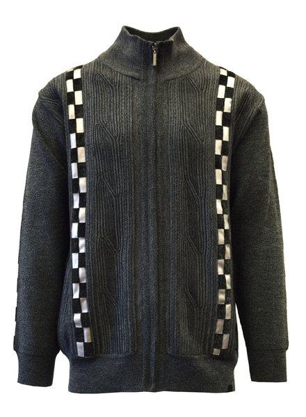 Silversilk PU Trim Sweater (9121)