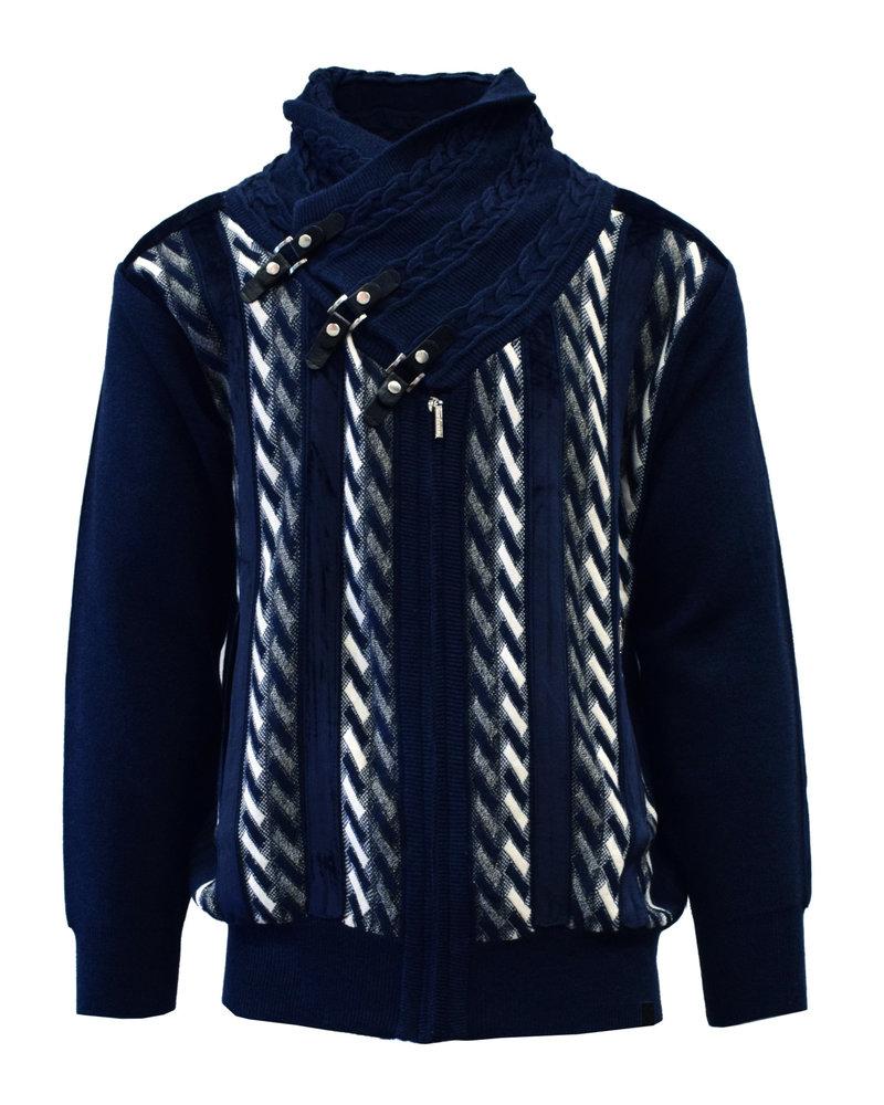 Silversilk Shawl Zippered Sweater (9107)