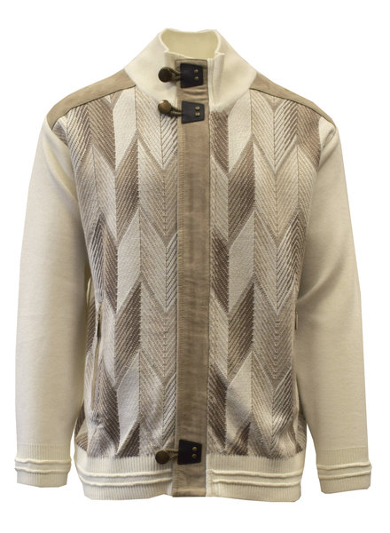 Silversilk Geo-Ombre Pattern Zip Sweater (9126)