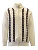 Silversilk Ribbon Weave Zip Sweater (9123)